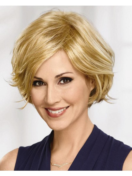 Breezy Bob Wig With Subtly Feathered Layers And A Contoured Silhouette