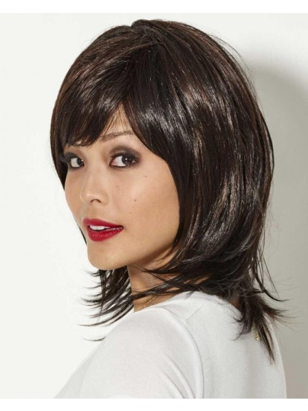 Razor-Cut Shag Wig With Lush Richly Texturized Layers With Flicked Ends