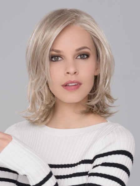 Shoulder Length Lace Front Mono Top Synthetic Hair Wig