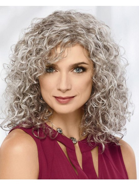 Volume-Rich Curly Wig With Shoulder-Length Layers Of Bouncy Spiral