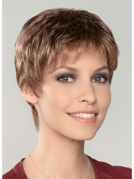 Capless Human Hair Short Wigs with Bangs
