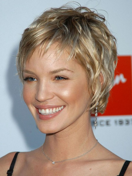 Ashley Scott Pixie Cut Blonde Human Hair Wig