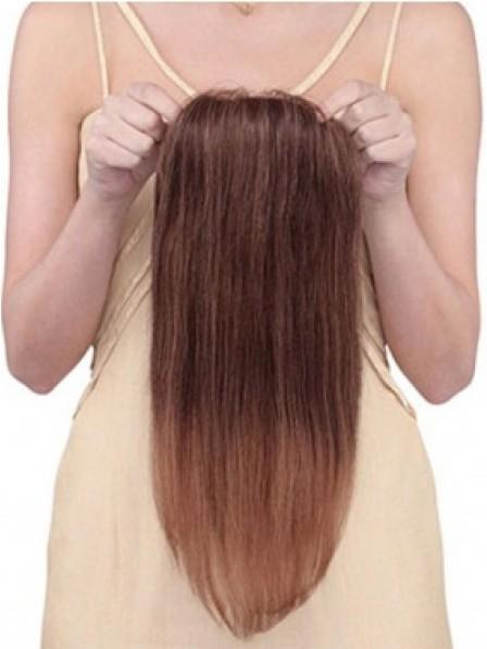 Dark Brown Human Hair Mono Top Piece