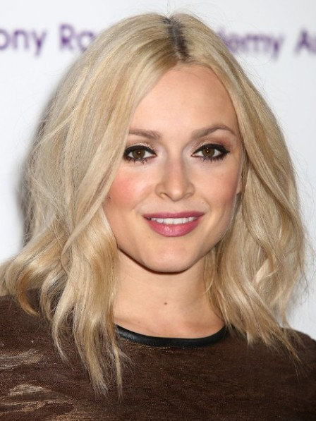 Fearne Cotton Shoulder Length Synthetic Lace Front Blonde Wig