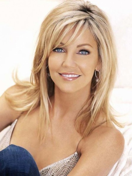 Heather Locklear Straight Lace Front 100% Remy Human Hair Wig