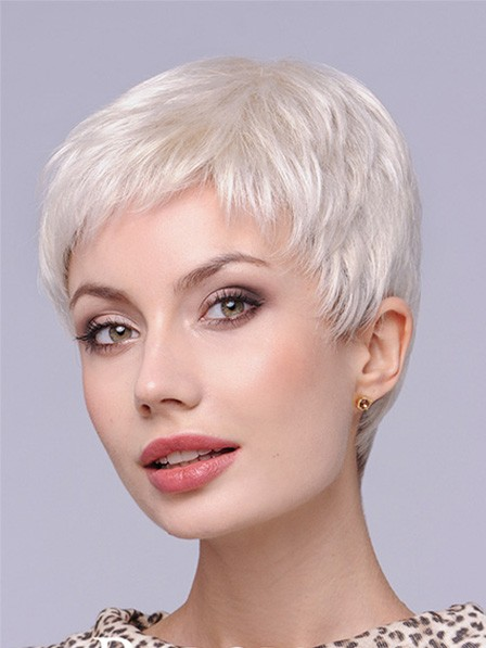 High Quality Synthetic Grey Wigs