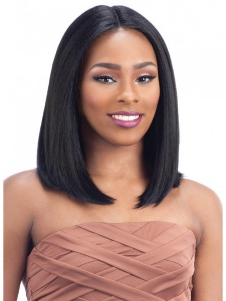 Hottest mid part Straight soft lace front mono top human hair wigs