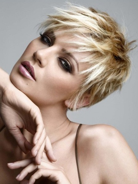 Synthetic Short Haircut Pixie Wig