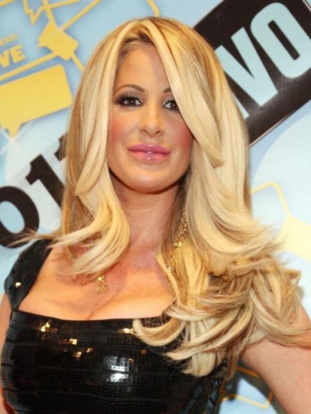 Kim Zolciak Natural Wavy Blonde Human Hair Wig