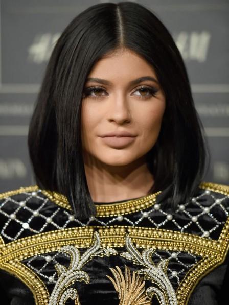 Kylie Jenner Black Synthetic Bob Cut Wig
