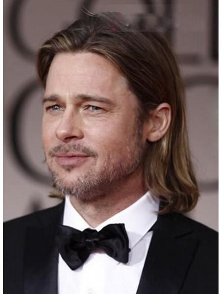 Full Lace Shoulder Length Human Hair Wig For Men
