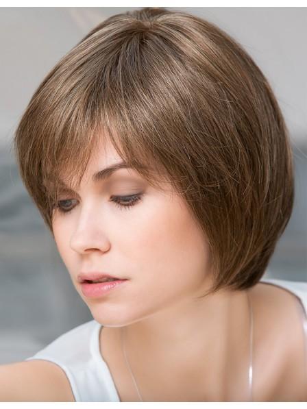 """10"""" Straight Brown 100% Human Hair Mono Hair Pieces"""