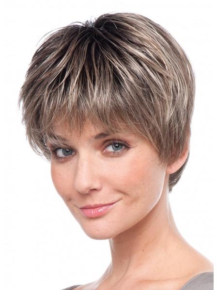 """4"""" Straight brown100% Human Hair Mono Hair Pieces"""