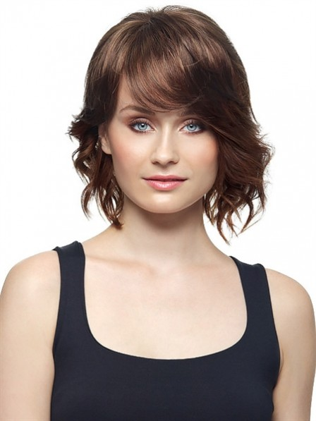 """8"""" Wavy Brown 100% Human Hair Hair Topper"""