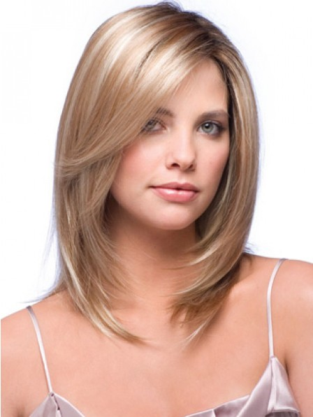 """14"""" Straight 100% Human Hair 1/2 Wigs Hair Pieces"""