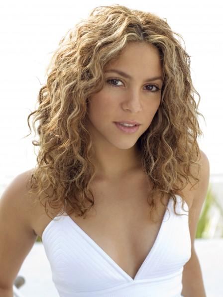 Shakira Medium Length Loose Wave Blonde Lace Front Human Hair Wig