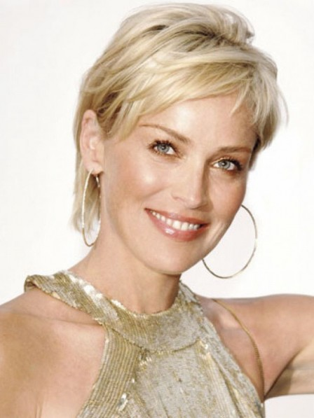 Sharon Stone Pixie Lovely Blonde Synthetic Hair Wig