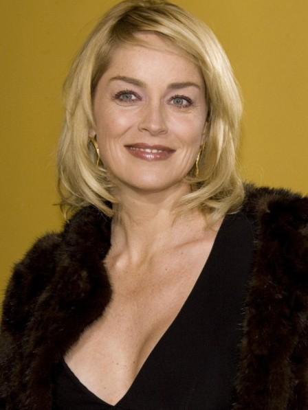 Sharon Stone's Blonde Bob Cut Wig