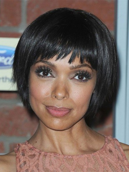 Short Bob Full Bangs With Soft Ends Wig