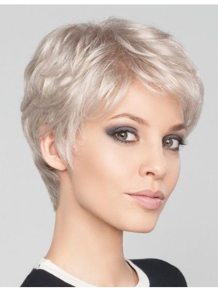 Short Pixie Cut Silver Grey Hair Wig