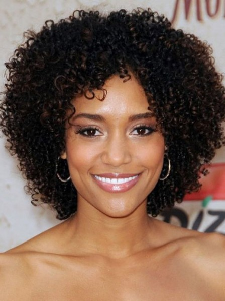 Small curly short capless synthetic hair wig