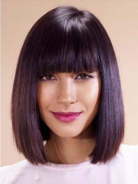 Bob Smooth Hairstyles Wig With Full Bangs