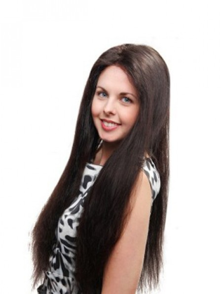 Full Lace Long Straight Human Hair Wig