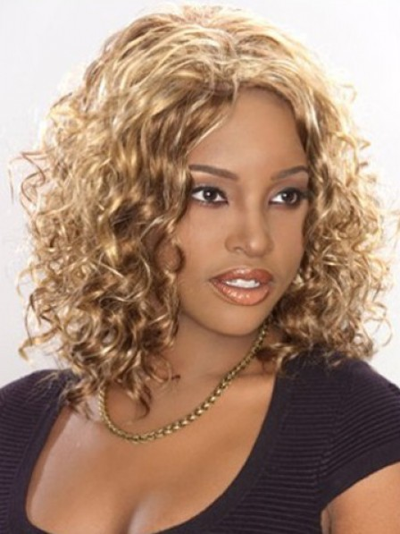 Shoulder Length Wavy Synthetic Hair Wig