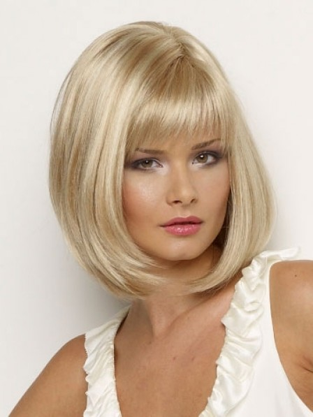 Bob Straight Synthetic Wig With Full Bangs For Women