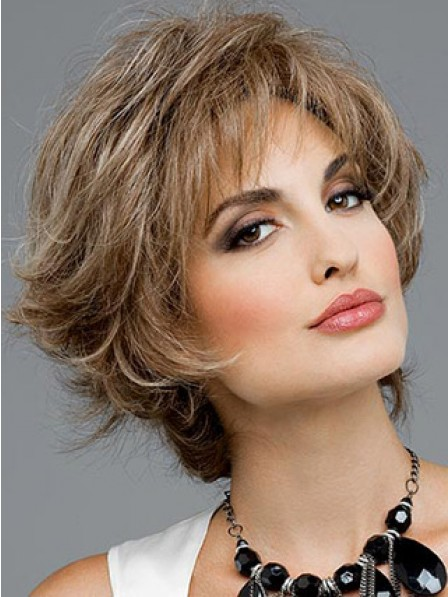 Short Wavy Synthetic Hair Wig For Women