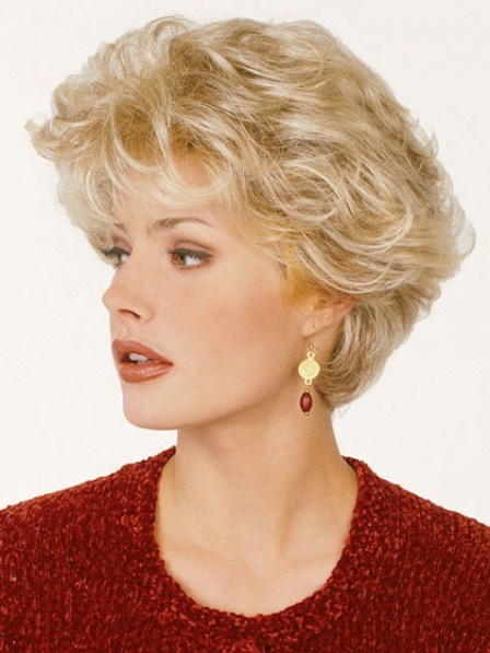 Short Style Wavy Capless Wig Synthetic Hair Wigs For Women With Bangs