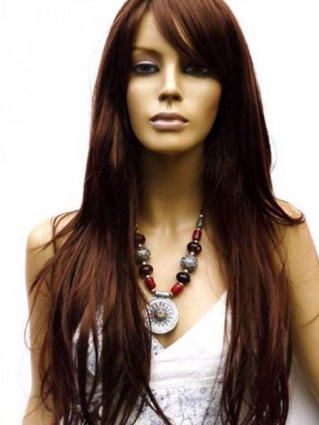 Natural Straight 100% Human Hair Long Lace Wig