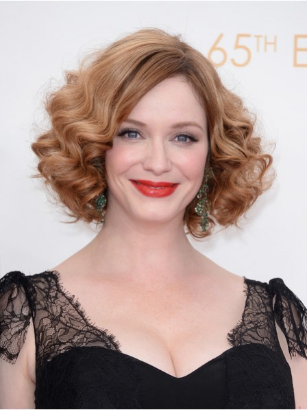 Short Curly Lace Front Mono Top Women Hair Wig