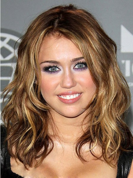 Human Hair Lace Front Monofilament Wavy Wig