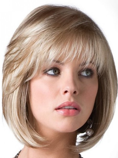 Synthetic Bob Straight Hair Wig With Bangs