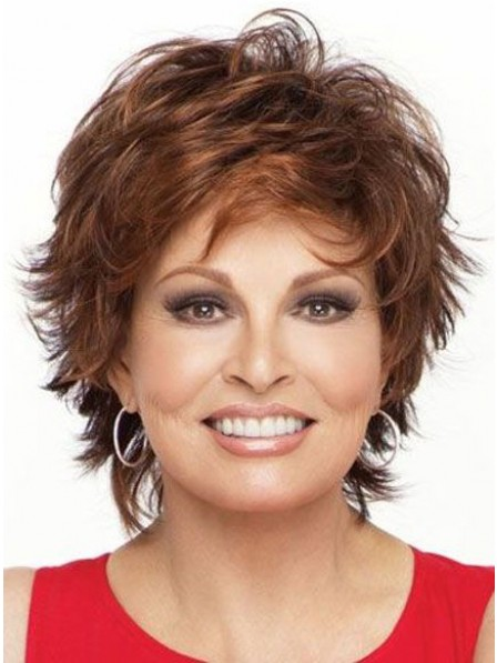 Cropped Curly Layered Synthetic Wig