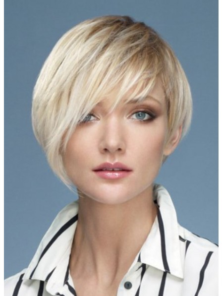 100% Human Hair Short Straight Hair Wig