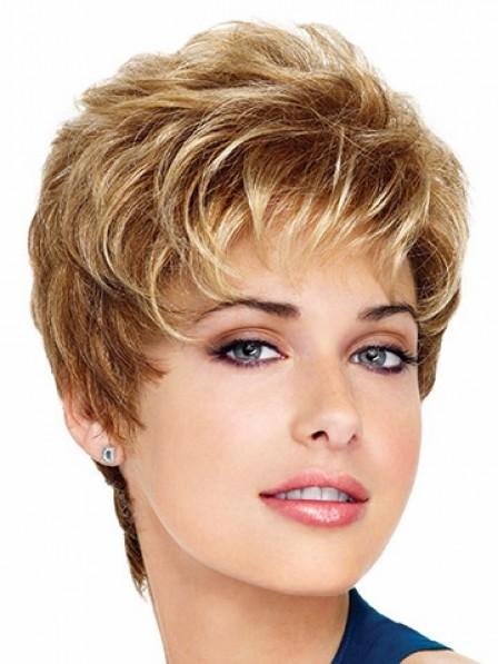 Wavy Capless Synthetic Short Wigs